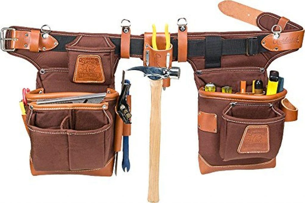 leather electrician tool belt