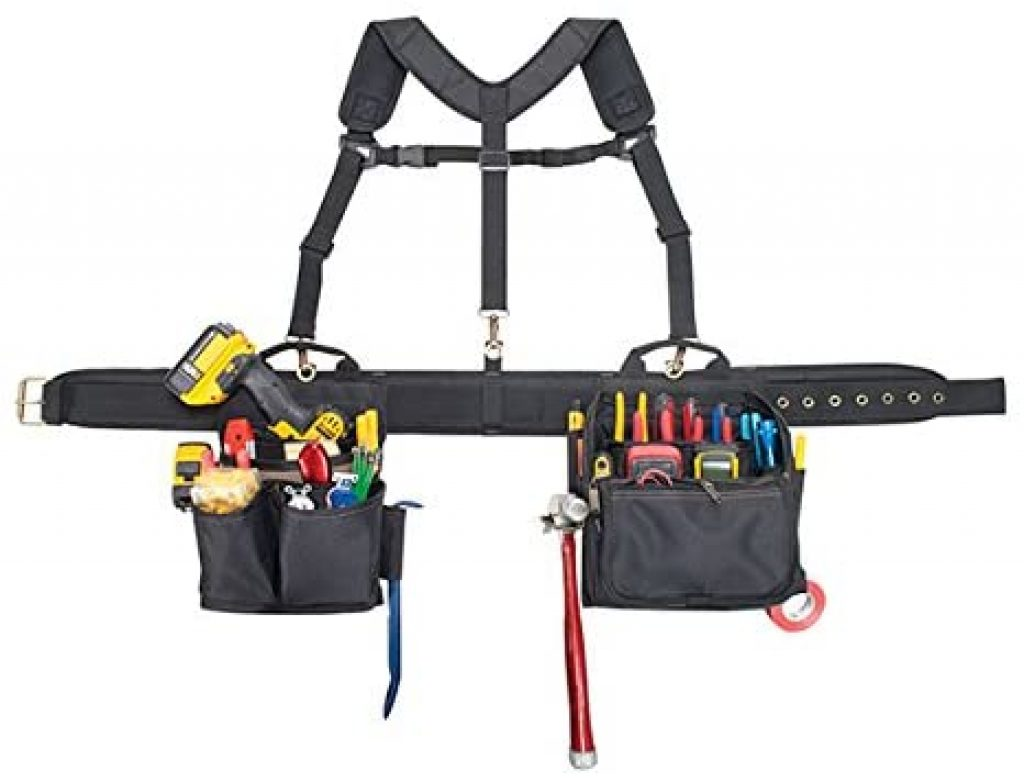 tool belt with suspenders